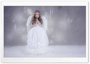 Christmas Angel HD Wide Wallpaper for 4K UHD Widescreen desktop & smartphone