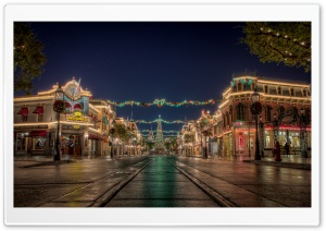Christmas at Disneyland HD Wide Wallpaper for 4K UHD Widescreen desktop & smartphone
