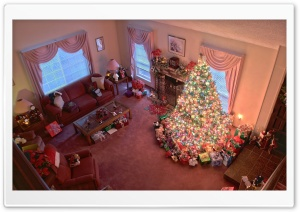Christmas At Home HD Wide Wallpaper for Widescreen