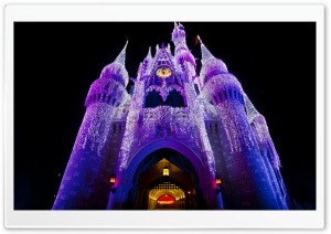 Christmas at the Castle HD Wide Wallpaper for Widescreen