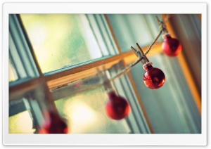 Christmas Balls Hanging HD Wide Wallpaper for Widescreen