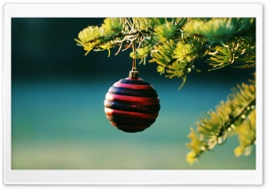 Christmas Bauble HD Wide Wallpaper for Widescreen