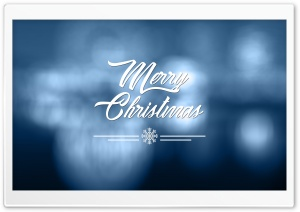 Christmas Blue HD Wide Wallpaper for Widescreen