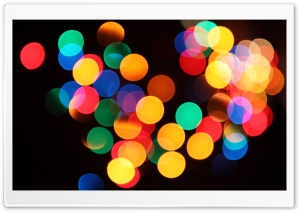 Christmas Bokeh HD Wide Wallpaper for Widescreen