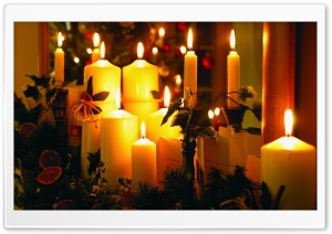 Christmas Candles HD Wide Wallpaper for Widescreen