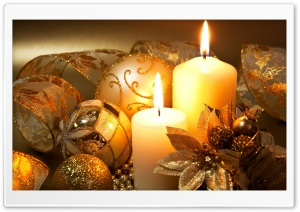 Christmas Candles HD Wide Wallpaper for 4K UHD Widescreen desktop & smartphone