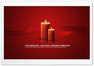 Christmas Candles Red HD Wide Wallpaper for Widescreen