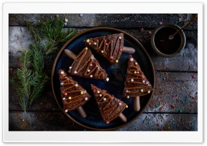 Christmas Chocolate Cake Ultra HD Wallpaper for 4K UHD Widescreen desktop, tablet & smartphone