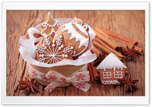 Christmas Cinnamon Cookies HD Wide Wallpaper for Widescreen