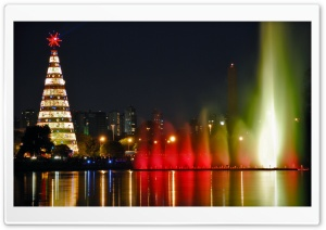 Christmas City HD Wide Wallpaper for Widescreen
