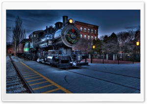 Christmas City locomotive Railway HD Wide Wallpaper for Widescreen