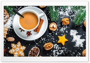 Christmas Cup of Coffee, Winter Mood Ultra HD Wallpaper for 4K UHD Widescreen desktop, tablet & smartphone