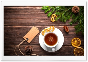 Christmas Cup of Tea HD Wide Wallpaper for Widescreen