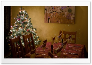 Christmas Dinner HD Wide Wallpaper for Widescreen