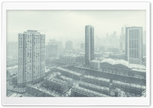 Christmas Downtown Chicago HD Wide Wallpaper for Widescreen