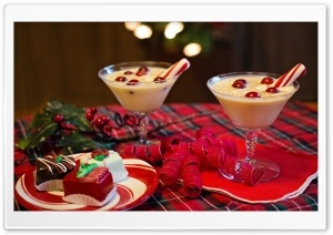 Christmas Eggnog Beverage HD Wide Wallpaper for 4K UHD Widescreen desktop & smartphone