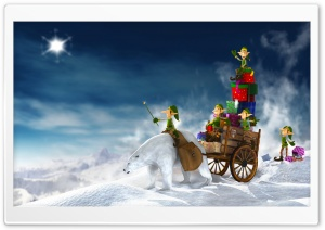 Christmas Elves 3D HD Wide Wallpaper for Widescreen