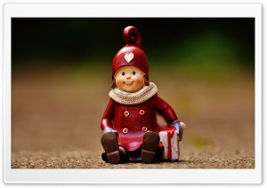 Christmas Figurine HD Wide Wallpaper for Widescreen