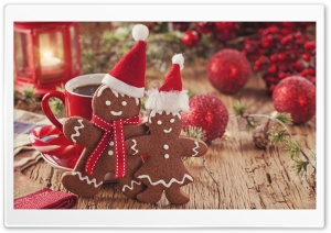 Christmas Gingerbread Ultra HD Wallpaper for 4K UHD Widescreen desktop, tablet & smartphone