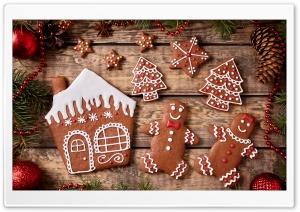 Christmas Gingerbread Cookies Ultra HD Wallpaper for 4K UHD Widescreen desktop, tablet & smartphone