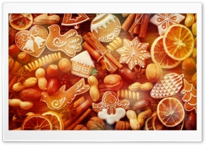 Christmas Gingerbread Cookies by PimpYourScreen HD Wide Wallpaper for Widescreen