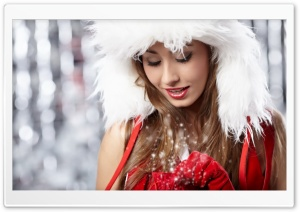Christmas Girl HD Wide Wallpaper for Widescreen
