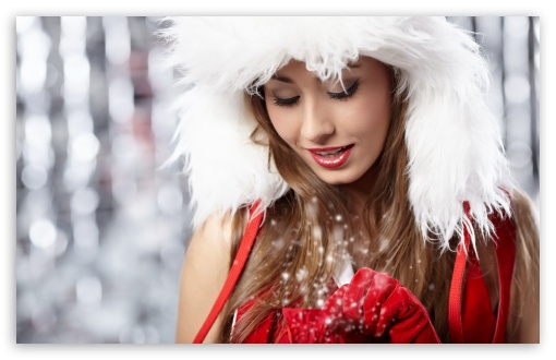 Christmas Girl HD wallpaper for Standard 4:3 5:4 Fullscreen UXGA XGA ...