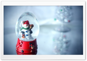 Christmas Glass Ball HD Wide Wallpaper for Widescreen