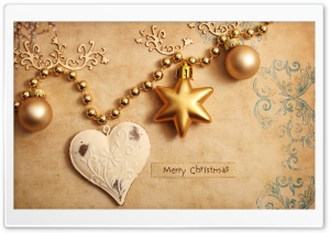 Christmas Heart HD Wide Wallpaper for Widescreen