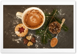 Christmas Hot Chocolate HD Wide Wallpaper for Widescreen