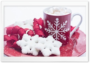 Christmas Hot Chocolate Mug, Winter HD Wide Wallpaper for Widescreen