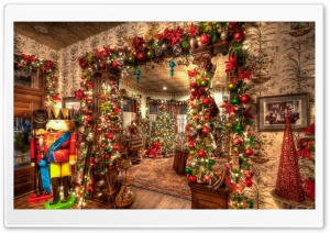 Christmas House Decorations Inside Ultra HD Wallpaper for 4K UHD Widescreen desktop, tablet & smartphone