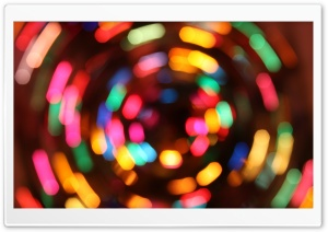 Christmas Lights Long Exposure HD Wide Wallpaper for Widescreen