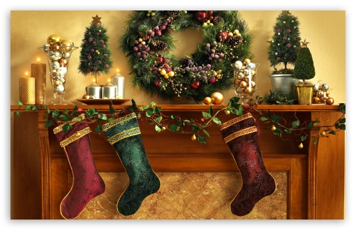 Christmas Mantle With Stockings HD wallpaper for Wide 16:10 Widescreen WHXGA WQXGA WUXGA WXGA ; Standard 4:3 5:4 3:2 Fullscreen UXGA XGA SVGA QSXGA SXGA DVGA HVGA HQVGA devices ( Apple PowerBook G4 iPhone 4 3G 3GS iPod Touch ) ; iPad 1/2/Mini ; Mobile 4:3 3:2 5:4 - UXGA XGA SVGA DVGA HVGA HQVGA devices ( Apple PowerBook G4 iPhone 4 3G 3GS iPod Touch ) QSXGA SXGA ;