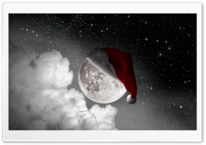 Christmas Moon HD Wide Wallpaper for Widescreen