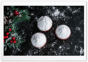Christmas Muffins Ultra HD Wallpaper for 4K UHD Widescreen desktop, tablet & smartphone