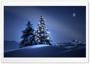 Christmas Night HD Wide Wallpaper for Widescreen