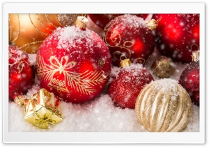 Christmas Ornaments HD Wide Wallpaper for Widescreen