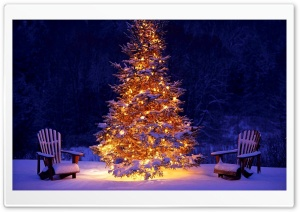 Christmas Outdoor Decorations HD Wide Wallpaper for Widescreen