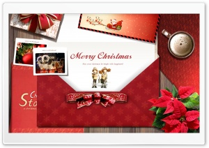 Christmas Postcard HD Wide Wallpaper for Widescreen
