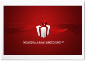 Christmas Present Red HD Wide Wallpaper for Widescreen