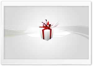 Christmas Present Silver HD Wide Wallpaper for Widescreen