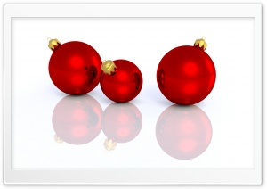 Christmas Red Balls HD Wide Wallpaper for Widescreen