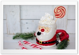 Christmas Santa Claus Mug Hot Chocolate Delight Ultra HD Wallpaper for 4K UHD Widescreen desktop, tablet & smartphone