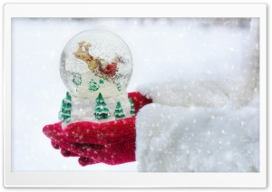 Christmas Santa Claus Snow Globe HD Wide Wallpaper for 4K UHD Widescreen desktop & smartphone