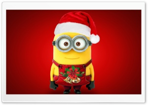 Christmas Santa Minion Ultra HD Wallpaper for 4K UHD Widescreen desktop, tablet & smartphone