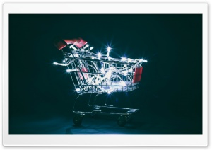 Christmas Shopping Cart Ultra HD Wallpaper for 4K UHD Widescreen desktop, tablet & smartphone