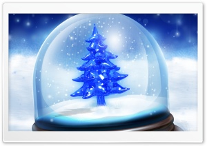 Christmas Snow Globe HD Wide Wallpaper for 4K UHD Widescreen desktop & smartphone