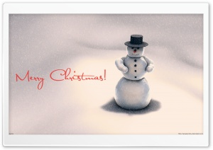 Christmas Snowman HD Wide Wallpaper for Widescreen