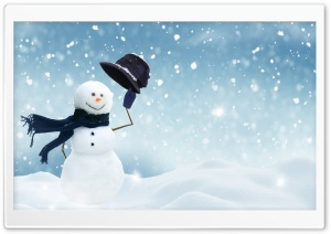 Christmas Snowman Craft HD Wide Wallpaper for Widescreen